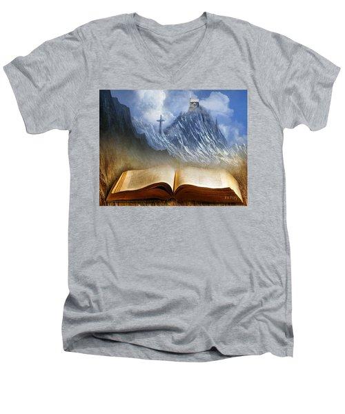 My Firm Foundation Men's V-Neck T-Shirt