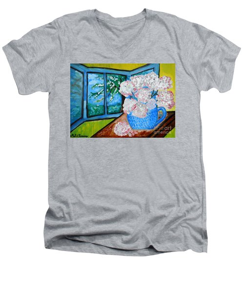 My Grandma S Flowers   Men's V-Neck T-Shirt