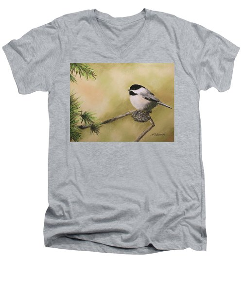 My Little Chickadee Men's V-Neck T-Shirt