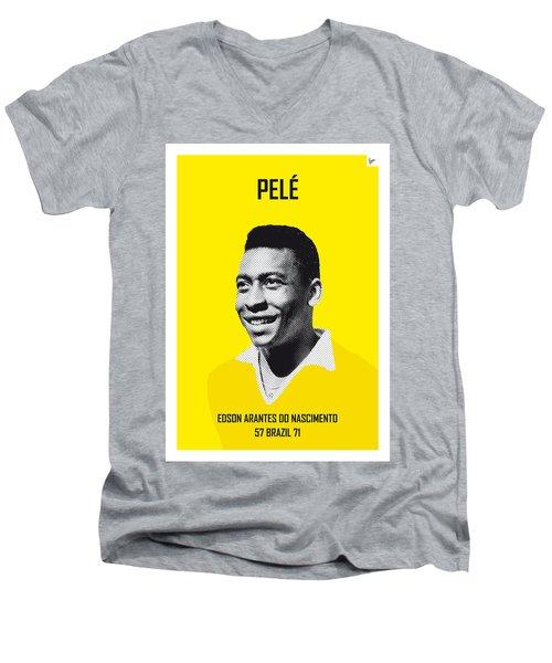 My Pele Soccer Legend Poster Men's V-Neck T-Shirt