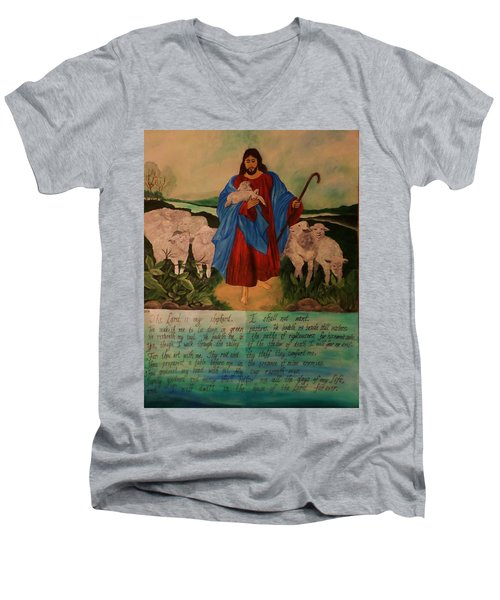 My Shepherd Men's V-Neck T-Shirt by Christy Saunders Church
