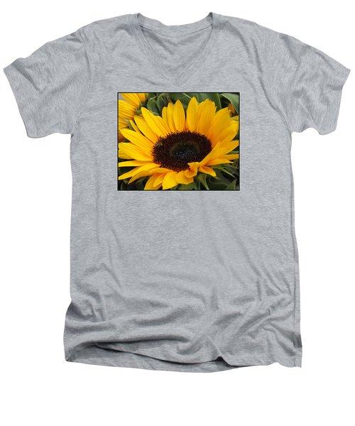 My Sunshine Men's V-Neck T-Shirt by Dora Sofia Caputo Photographic Art and Design