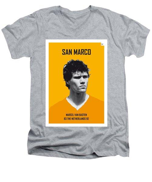 My Van Basten Soccer Legend Poster Men's V-Neck T-Shirt