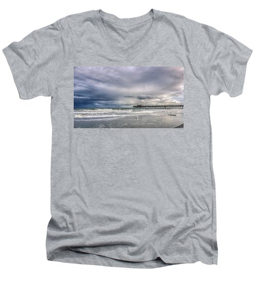 Myrtle Beach Fishing Pier Men's V-Neck T-Shirt