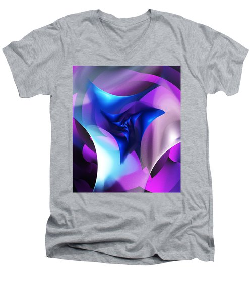Men's V-Neck T-Shirt featuring the digital art Mysterious  by David Lane