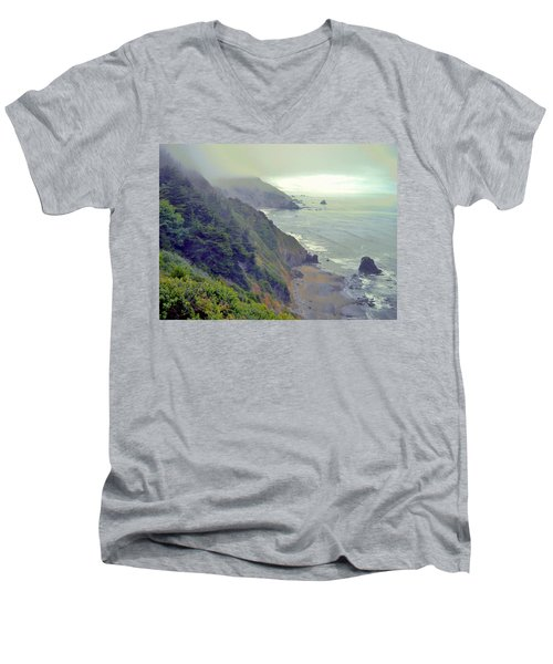 Men's V-Neck T-Shirt featuring the photograph Mystic by Marilyn Diaz