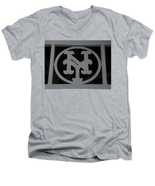 N Y Men's V-Neck T-Shirt