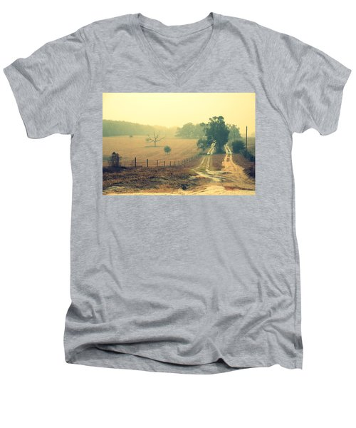 Naked Tree Farm Men's V-Neck T-Shirt