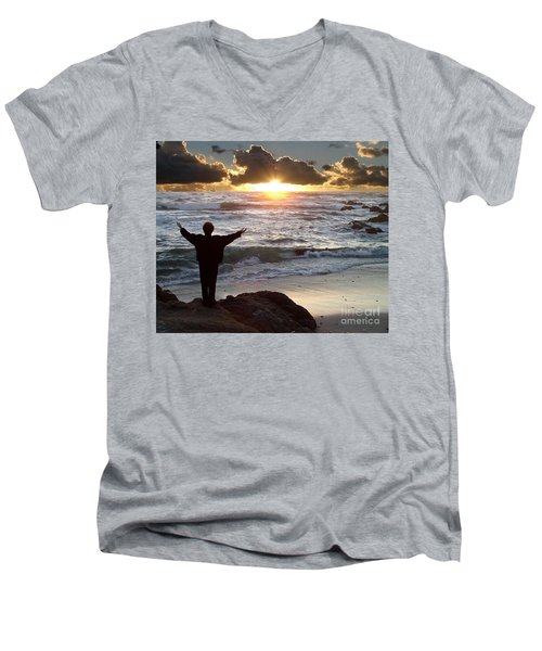 Namaste The Day Men's V-Neck T-Shirt