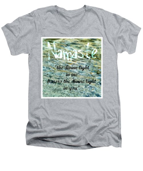 Namaste With Crystal Waters Men's V-Neck T-Shirt