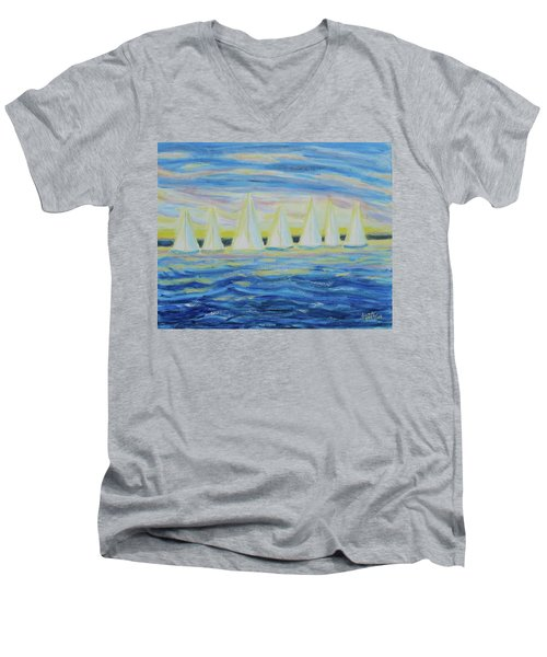 Nantucket Sunrise Men's V-Neck T-Shirt