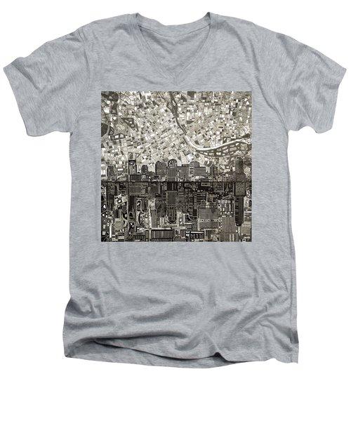 Nashville Skyline Abstract 5 Men's V-Neck T-Shirt