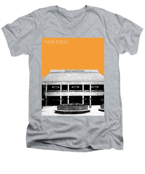 Nashville Skyline Grand Ole Opry - Orange Men's V-Neck T-Shirt