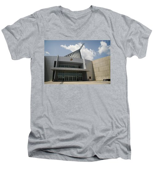 National Museum Of The Marine Corps Men's V-Neck T-Shirt by Carol Lynn Coronios