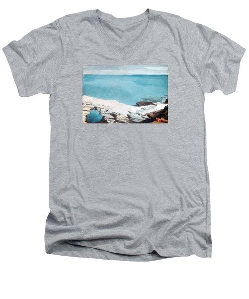 Natural Bridge Bermuda Men's V-Neck T-Shirt by Celestial Images