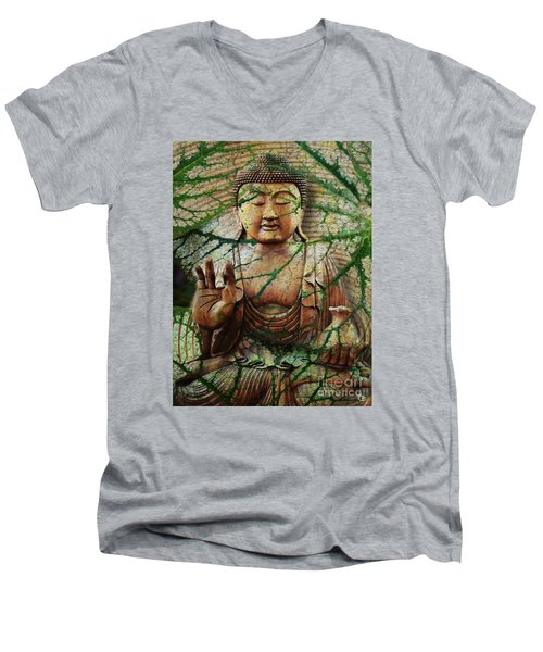 Natural Nirvana Men's V-Neck T-Shirt by Christopher Beikmann