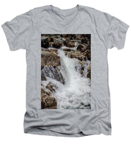 Naturally Pure Waterfall Men's V-Neck T-Shirt
