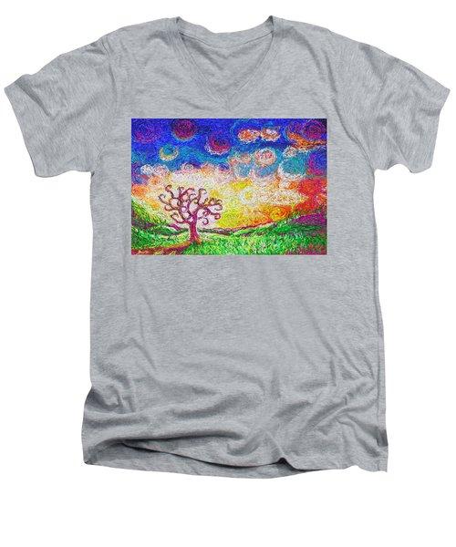 Nature 2 22 2015 Men's V-Neck T-Shirt