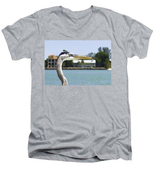 Coexistence Men's V-Neck T-Shirt by Susan Molnar
