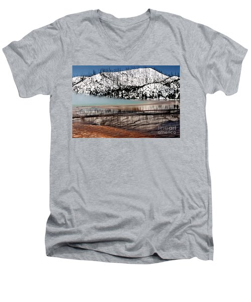 Men's V-Neck T-Shirt featuring the photograph Nature's Mosaic I by Sharon Elliott