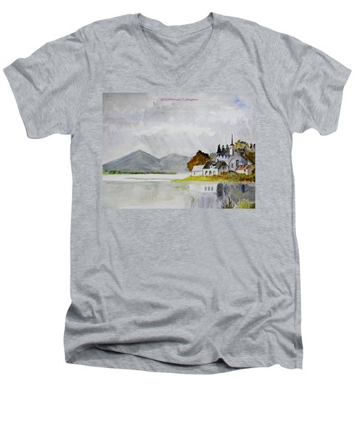Nature's Painting Men's V-Neck T-Shirt by Sonali Gangane