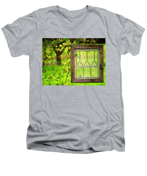 Nature's Window Men's V-Neck T-Shirt by Greg Simmons