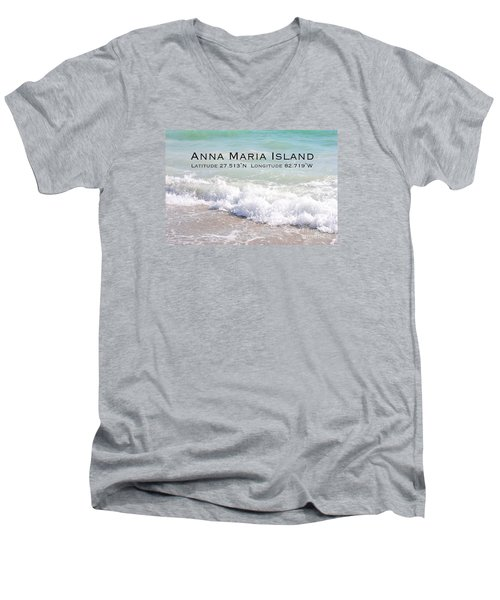 Men's V-Neck T-Shirt featuring the photograph Nautical Escape To Anna Maria Island by Margie Amberge