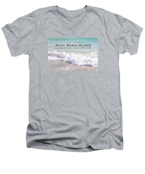 Nautical Escape To Anna Maria Island Men's V-Neck T-Shirt