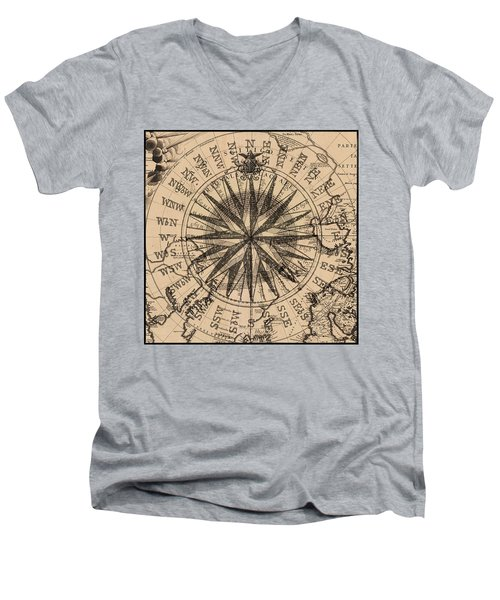 Nautical II Men's V-Neck T-Shirt by James Christopher Hill