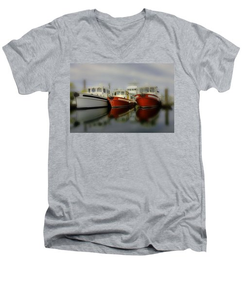 Men's V-Neck T-Shirt featuring the photograph Nautical by Sonya Lang