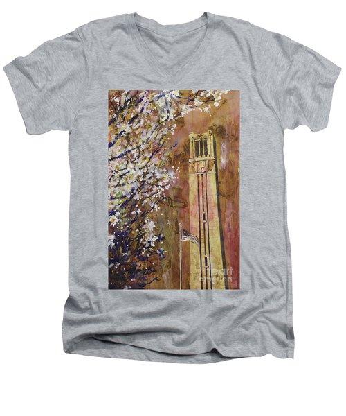 Ncsu Bell Tower Men's V-Neck T-Shirt