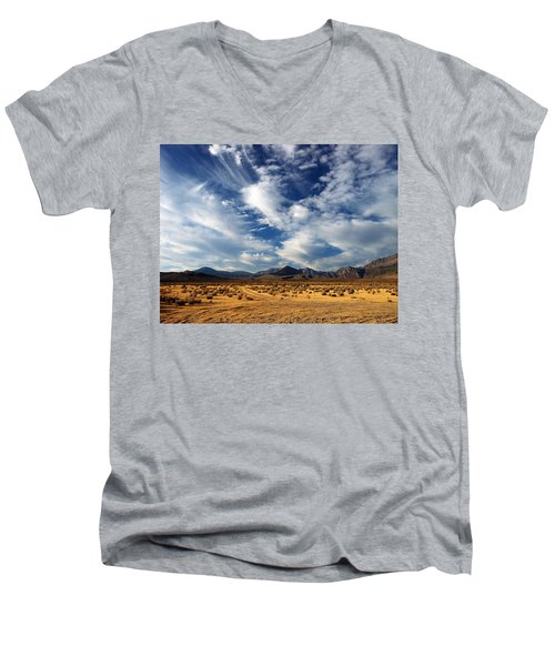 Near The Intersection Of God And The Eastern Sierras Men's V-Neck T-Shirt