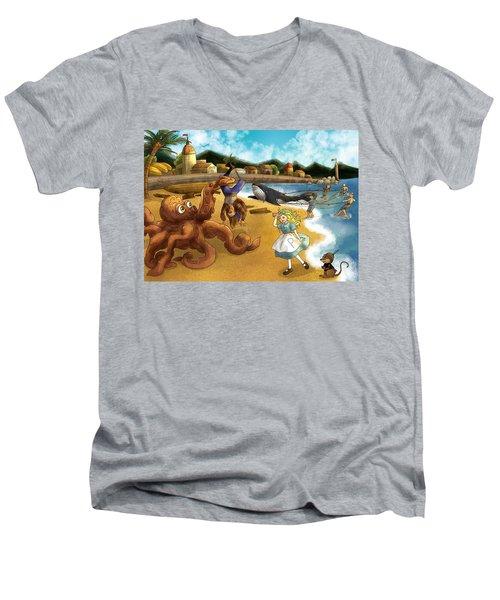 Nellie The Octopus Men's V-Neck T-Shirt