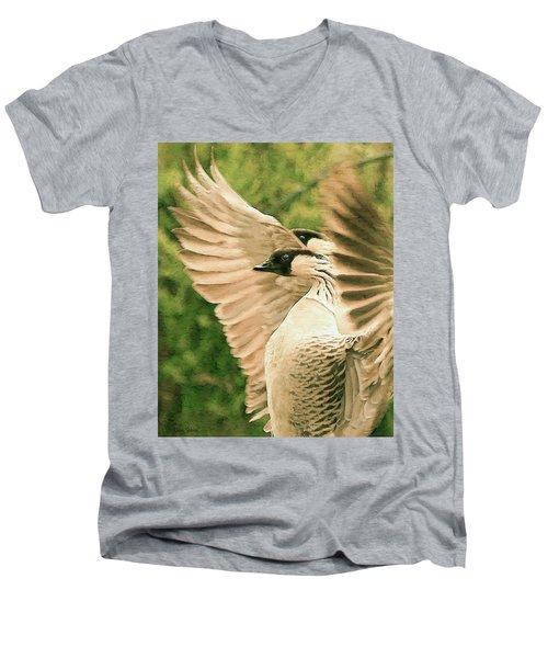 Nene Goose Men's V-Neck T-Shirt