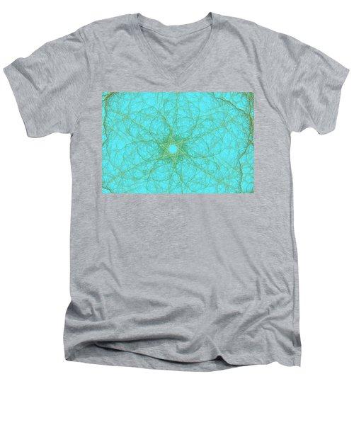 Nerves Green Blue Men's V-Neck T-Shirt