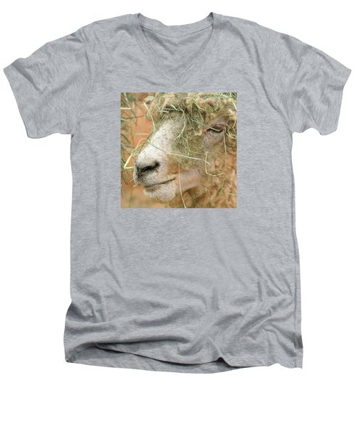 New Hair Style Men's V-Neck T-Shirt by Art Block Collections