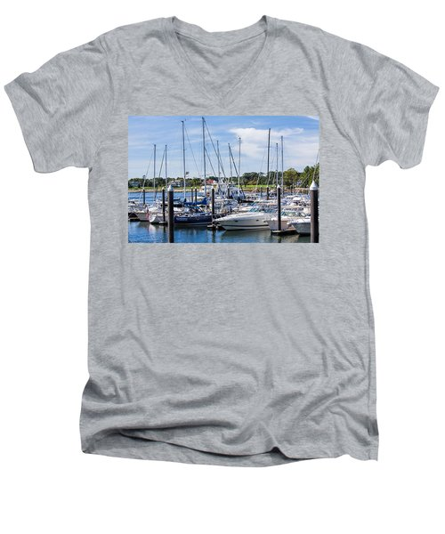 New Hampshire Marina Men's V-Neck T-Shirt