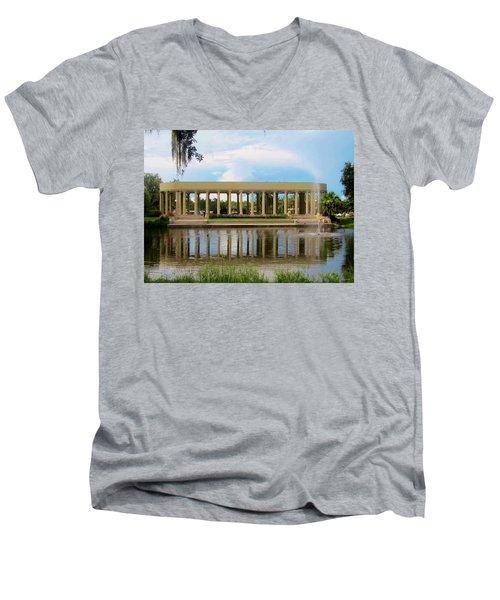 New Orleans City Park - Peristyle Men's V-Neck T-Shirt by Deborah Lacoste