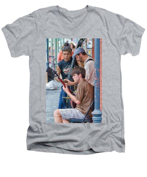 New Orleans Street Trio Men's V-Neck T-Shirt