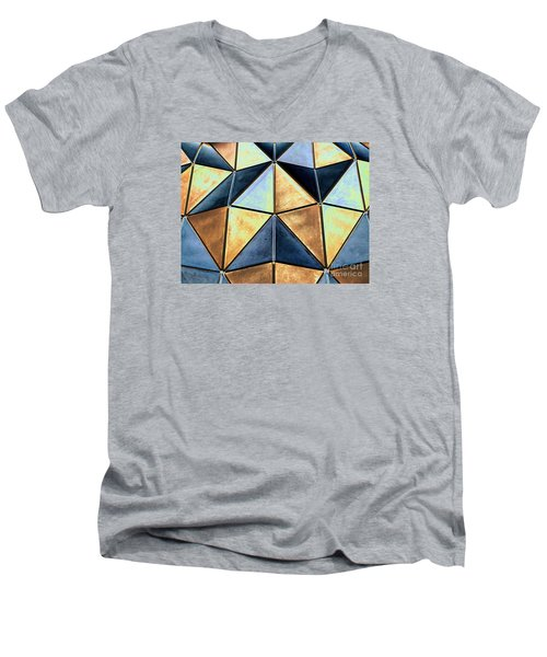 Pop Art Abstract Art Geometric Shapes Men's V-Neck T-Shirt