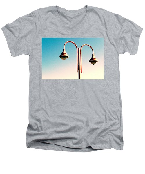Beach Lamp Post Men's V-Neck T-Shirt