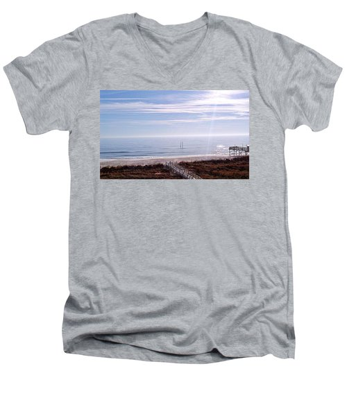 New Year Carolina Beach Men's V-Neck T-Shirt