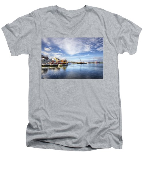 New Years In Portsmouth Nh Men's V-Neck T-Shirt