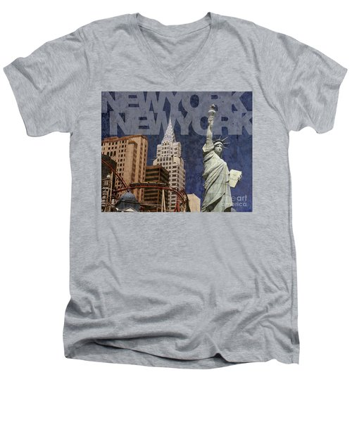 New York New York Las Vegas Men's V-Neck T-Shirt