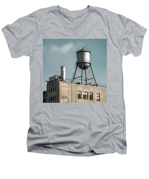 New York Water Towers 10 Men's V-Neck T-Shirt