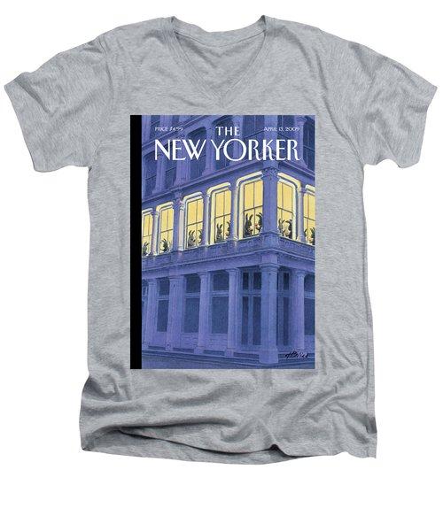 New Yorker April 13th, 2009 Men's V-Neck T-Shirt