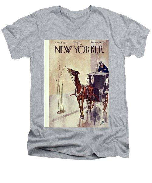 New Yorker April 2 1932 Men's V-Neck T-Shirt