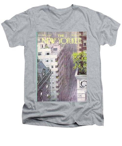 New Yorker April 22nd, 1967 Men's V-Neck T-Shirt