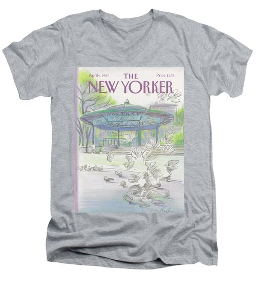 New Yorker April 6th, 1987 Men's V-Neck T-Shirt