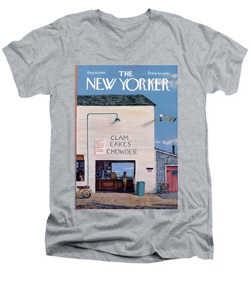 New Yorker August 16th, 1969 Men's V-Neck T-Shirt